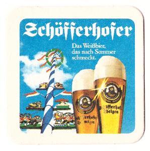 5x Pivní tácek - Schöfferhofer