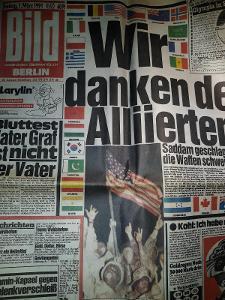 Bild 1.März 1991 konec války v zálivu. Kompletní