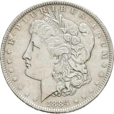 USA 1 Dollar Morgan 1884O XF-UNC č36071