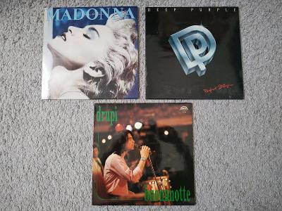 Gramofonová deska Gramofon Sbírka Madonna Deep Purple Pop Rok Vinyl LP