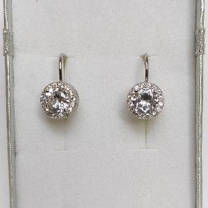 925 Nové pravé stříbrné Rhodiované náušnice se zirkony šperky stříbro