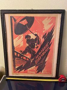 Plakat karton papir čislovany 029 Rusko 1920-1928 rok