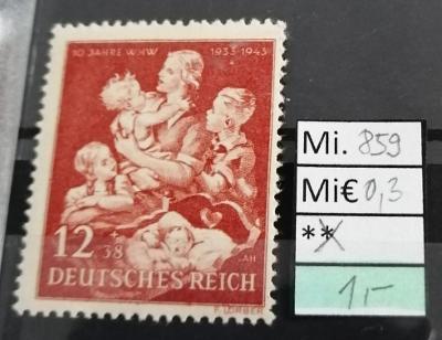 Deutsches Reich, DR Mi 859*