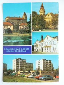 Brandýs nad Labem - Stará Boleslav - Zámek - sídliště - auta