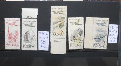 POLSKO 1958 LETECKÉ CENNÉ PRŮSVITKY SVĚŽÍ** OKRAJE TOP STAV KAT 157 ZL