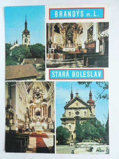 Brandýs nad Labem - Stará Boleslav - kostel - Pohlednice