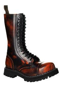Boty Steel Boots Orange/Black, vel. 37 15-dírek - NOVÉ, ZÁRUKA