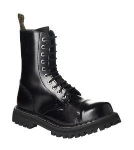 Boty Steel Boots černé Black, vel. 37 10-dírek - NOVÉ, ZÁRUKA