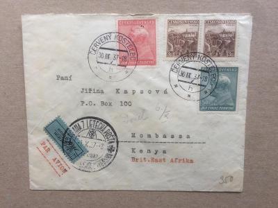 ČSR - Britská Východní Afrika 1937 letecké