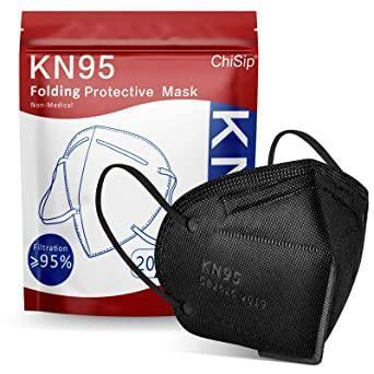 KN95 respirátory - 50ks černé - poštovné zdarma, delší doba dodání