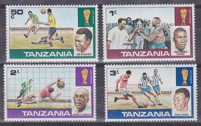 Tanzánie 1978 MS ve fotbale Mi# Mi# 95-98 2333