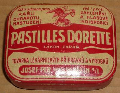 PLECHOVKA PASTILLES DORETTE-perfektní stav