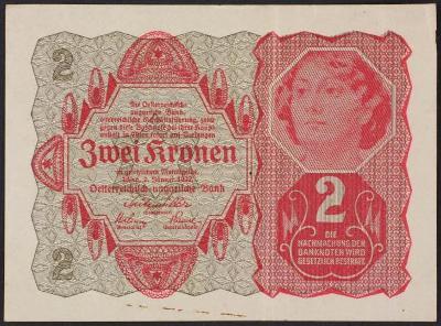 2 kronen 1922 - reklama