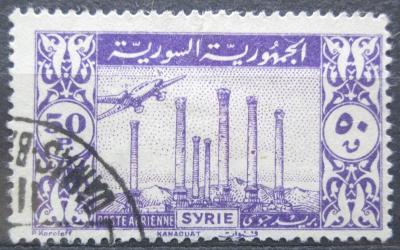 Sýrie 1946 Letadlo nad ruinami Kanawat Mi# 534 0065