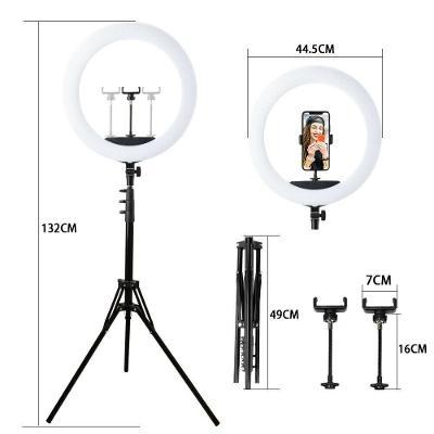 LED stmívatelné kruhové světlo 45cm s + příslušenství