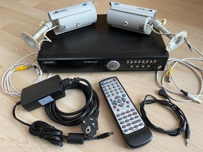 Kamerový systém 2xkamera a 4kan. MPEG-4 Digital Video Recorder DVR-460