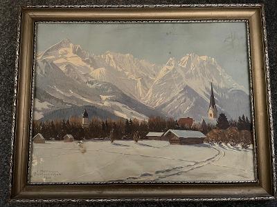 obraz Jakob HELLMANN  - Partenkirchen