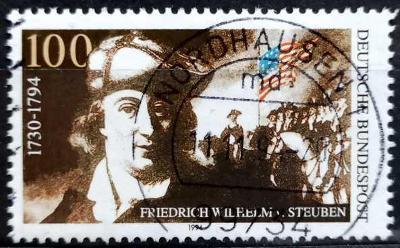 BUNDESPOST: MiNr.1766 Baron Friedrich von Steuben 100pf 1994
