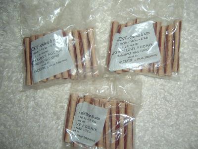 Dřevěné natáčky na trvalou (nepoužité) a jiné kovové (použité)