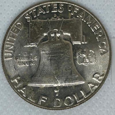Půldolar (half dollar, 1/2 $) 1960 D Franklin (KM# 199) UNC!