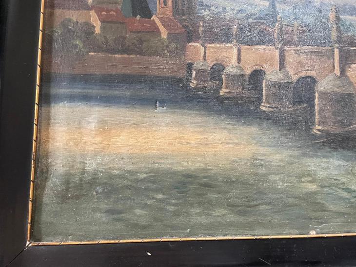 pražský hrad - olej na plátně  - Umění