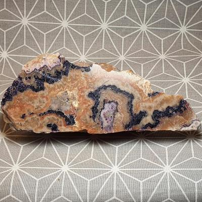Fluorit řez leštěný 123 x 51 mm! Saské Krušné hory