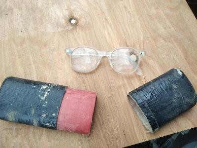 staré brýle Retro pouzdro