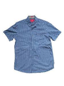 Pánská košile S.Oliver s krátkým rukávem, modrá, velikost S