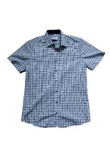 Pánská košile Royal Class s krátkým rukávem, modrá, velikost M