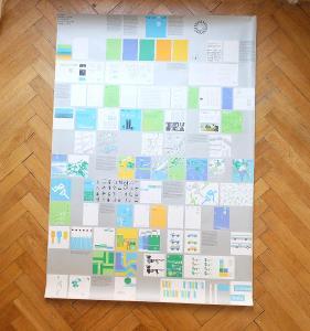 OLYMPIÁDA MÜNCHEN 1972 VISUELLES ERSCHEINUNGSBILD AICHER 118 x 84 cm