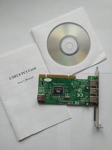 Karta do počítače na USB 2.0 PCI CARD