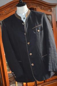 Lněné pánské sako se stojáčkem vel.XL