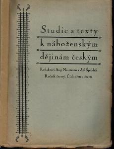 Neumann, Špaldák (ed.): Studie a texty k náboženským dějinám českým IV