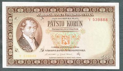 500 kčs 1946 NEPERFOROVANA stav 0