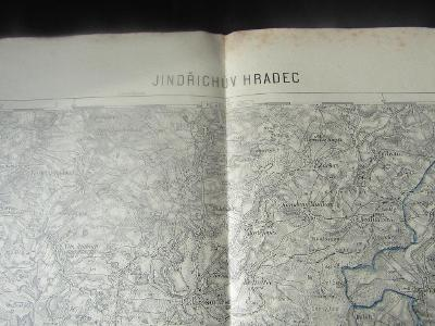 MAPA JINDŘICHŮV HRADEC 1928