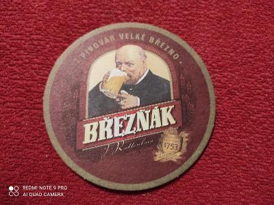 Březňák pivní tácek 2009