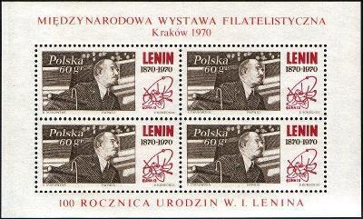 Polsko 1970 Známky Aršík Mi 42 ** Lenin filatelie výstava