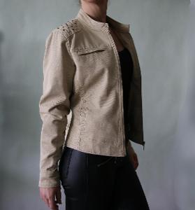 Béžová džínová bunda Amisu vel.40