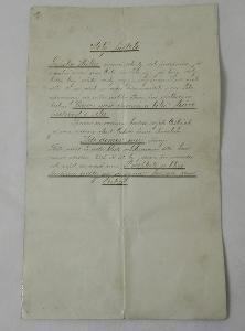 DOPIS ČLENŮ ŘEMESLNICKO-OBČANSKÉ BESEDY V LEDČI NAD SÁZAVOU - rok 1907