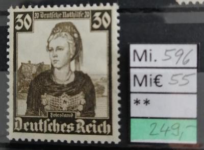 Deutsches Reich, DR Mi 596**