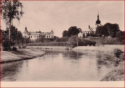 Česká Skalice * pohled na město od řeky * Náchod * V592