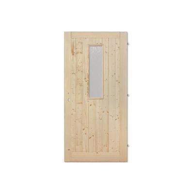 Palubkové dveře vchodové sklo 20x80