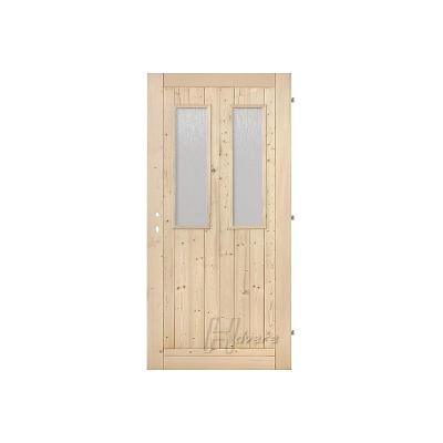 Palubkové dveře vchodové 2x sklo