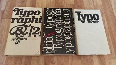 TYPOGRAPHIA 1-3 - OLDŘICH HLAVSA - 1976-1986 - KOMPLET