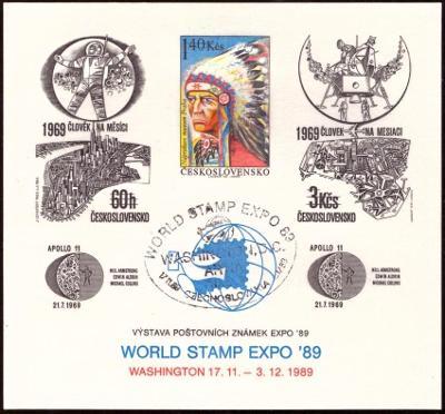 POF. PT 22 - TISK INDIÁN, WASHINGTON 1989, SPECIÁLNÍ RAZÍTKO (T9898)