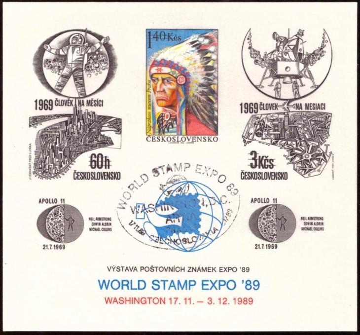 POF. PT 22 - TISK INDIÁN, WASHINGTON 1989, SPECIÁLNÍ RAZÍTKO (T9898) - Filatelie