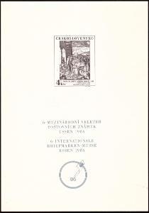 POF. PT 16 - PŘÍLEŽITOSTNÝ TISK ESSEN 1986 (T9332)