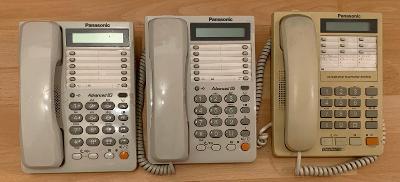 Pevné telefony PANASONIC KX-TS2308CXW a KX-TS17CX-W