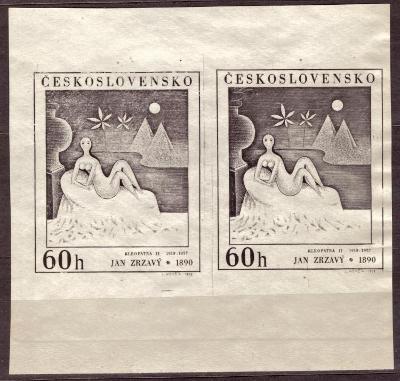 POF. 1729 - J. ZRZAVÝ 60 HAL - PATISK ZKUSMÉHO TISKU (S1756)