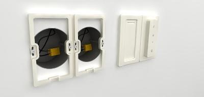 Neviditelná redukce pro 2 ks Philips Hue Dimmer switch